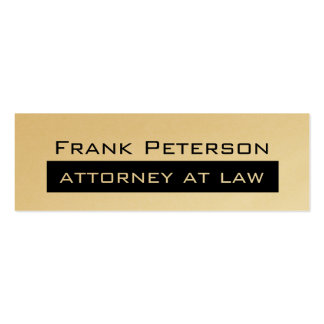 Black white minimalist Gold attorney at law Pack Of Skinny Business Cards