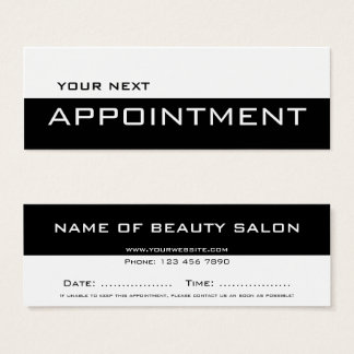 Black white minimalist modern Appointment Card