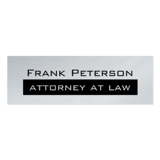 Black white minimalist Platinum attorney at law Pack Of Skinny Business Cards
