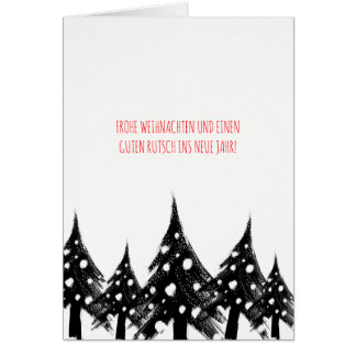 Black white, minimum, Christmas cards decay