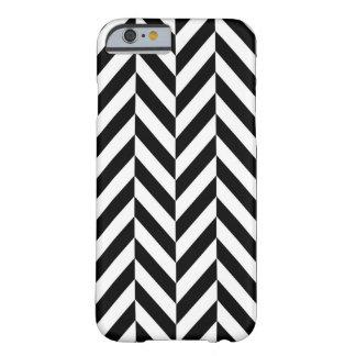 Black & White Modern Chevron iPhone Case