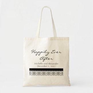 Black & White Modern Pattern Wedding Tote Bag