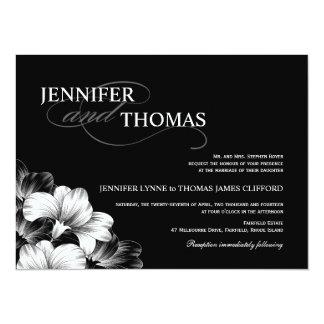 Black White Modern Wedding Photo Invitation