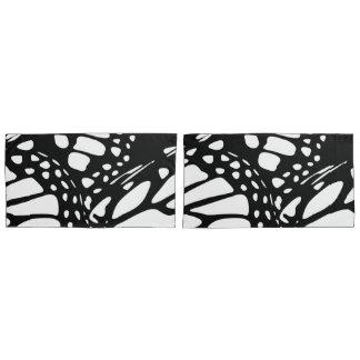Black & White Monarch Butterfly Wing Design Pillowcase