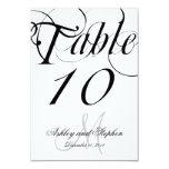 Black White Monogram Wedding Table Number Card Custom Invitation
