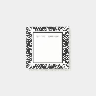 Black & White Moroccan Border   Personalized Post-it Notes