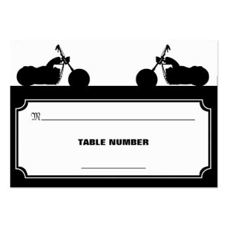 Black White Motorcycle Biker Silhouette Placecards Pack Of Chubby Business Cards