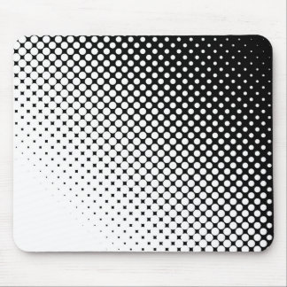 Black White Mouse Pad