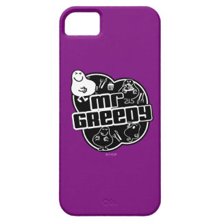 Black & White Mr. Greedy Barely There iPhone 5 Case