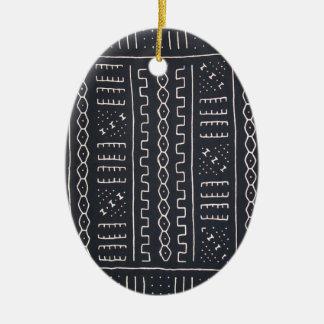 Black White Mudcloth Ornament