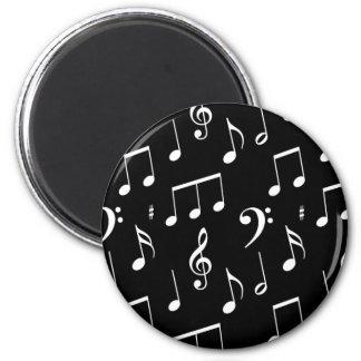 Black & White Music Note Magnet