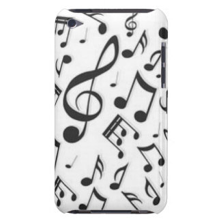 Black & White Music Notes Patter Print Barely There iPod Covers