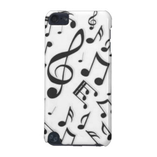 Black & White Music Notes Patter Print iPod Touch 5G Case