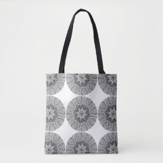 Black & White Mystical Mandala Tote Bags