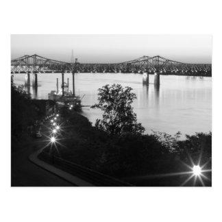 Black & White Natchez Under-The-Hill Postcard