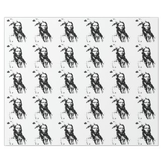 BLACK & WHITE NATIVE AMERICAN CHIEF (CRAZY HORSE) WRAPPING PAPER