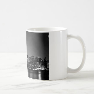 Black & White New York City at Night Coffee Mug
