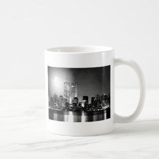 Black & White New York City at Night Coffee Mugs