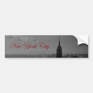 Black White New York City Bumper Stickers