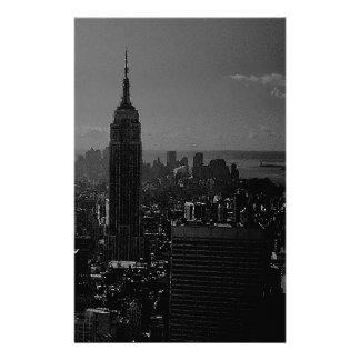 Black White New York City Custom Stationery