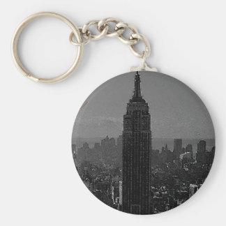 Black White New York City Key Chain