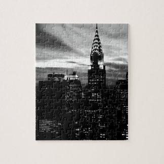 Black & White New York City Midtown Jigsaw Puzzle