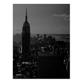 Black White New York City Post Card