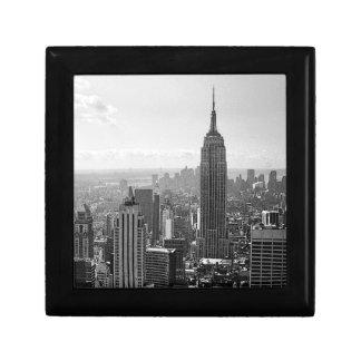 Black & White New York City Small Square Gift Box