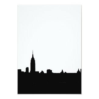 Black & White New York Silhouette Invitation