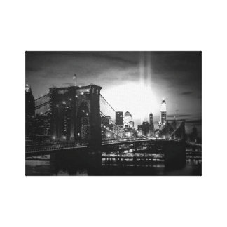 Black & White New York Skyline Wrapped Canvas Stretched Canvas Prints