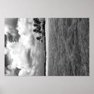 Black & White Ocean Poster