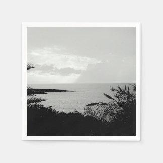 Black & White Ocean View Paper Napkins