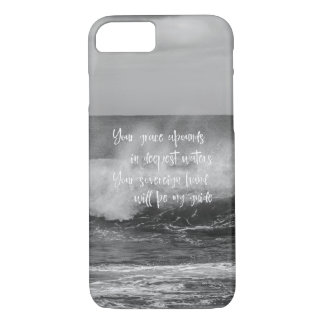 Black & White Ocean with Christian Quote iPhone 8/7 Case