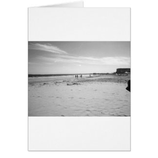 Black & White Old Orchard Beach Card
