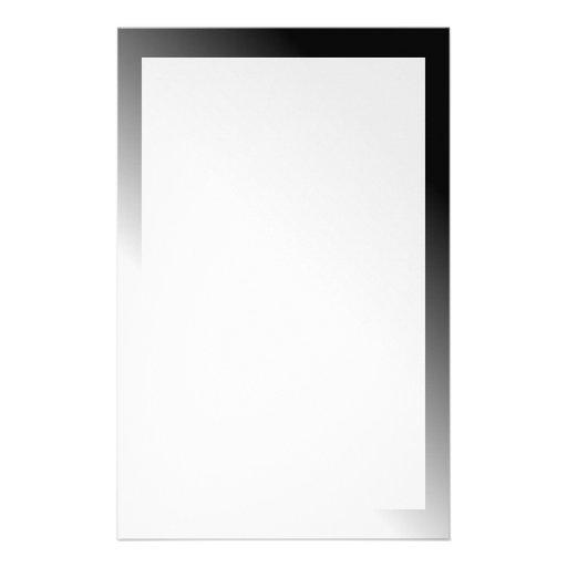 Black White Ombre Custom Stationery
