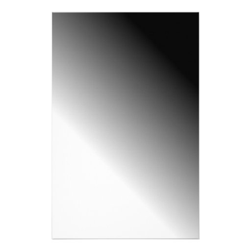 Black White Ombre Customized Stationery