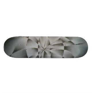 Black & White Optical Illusion Skateboard
