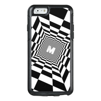 Black & White Optical Illusion, White Monogram OtterBox iPhone 6/6s Case