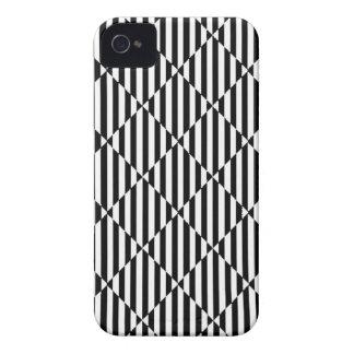 Black white optical illusions bent lines diamonds Case-Mate iPhone 4 cases