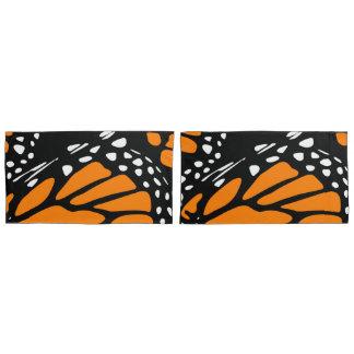 Black, White&Orange Monarch Butterfly Wing Design Pillowcase