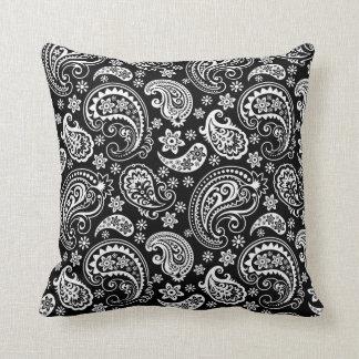 Black & WHite Ornate Paisley Pattern Cushions