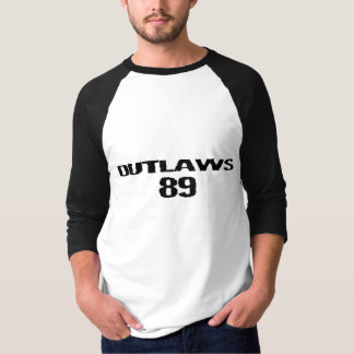 Black & White Outlaws 89 BaseBall Tee