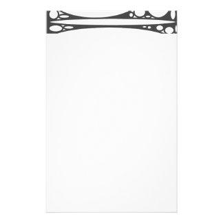 Black white ovals border personalized stationery