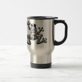 Black White Paisley Climbing Frog Mug