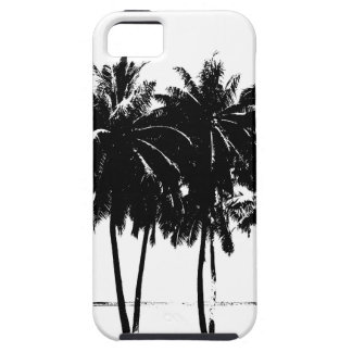 Black White Palm Trees Silhouette iPhone 5 Case