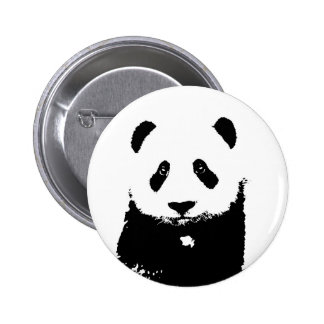 Black & White Panda 6 Cm Round Badge