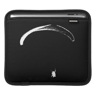 Black & White Parachute - tablet sleeve iPad Sleeves