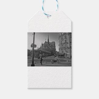 Black & White Paris notre dame Gift Tags