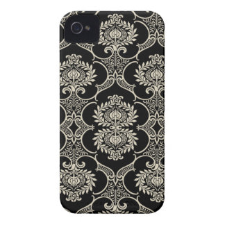 Black & White Pattern Damask Blackberry Bold Case