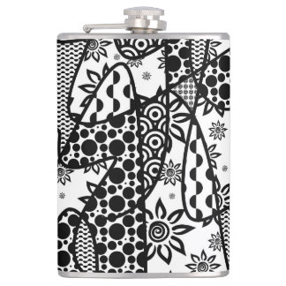 Black & White Pattern Patchwork 03 Flasks